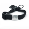 black adjustable length color with stainless steel collar tag id for pets