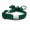green adjustable length color with stainless steel collar tag id for pets