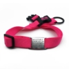 pink adjustable length color with stainless steel collar tag id for pets