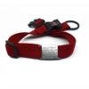 red adjustable length color with stainless steel collar tag id for pets