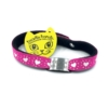 pink hearts beastie band cat safety collar combo
