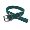 green double thick nylon collar belt buckle style collar tag