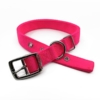 pink double thick nylon collar belt buckle style collar tag