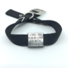 black double thick nylon collar with stainless steel slide on style collar tag