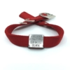 red double thick nylon collar with stainless steel slide on style collar tag