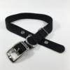 black single thick nylon belt buckle collar