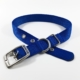 blue single thick nylon belt buckle collar