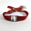 red single thick nylon collar with stainless steel collar tag id for pets