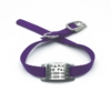 purple pet collar with collar tag id for pets